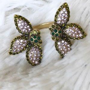 Stella & Dot pave petal ring